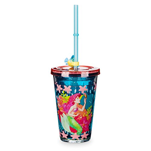 Disney Store Ariel Tumbler with Straw (Little Mermaid Cups)