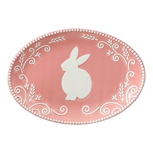 Pfaltzgraff Earthenware Platter - Pfaltzgraff Bunny Oval Platter