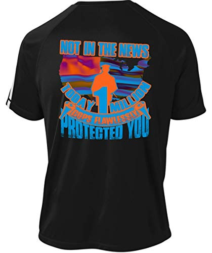 Cops Flawlessly Protected You Dry Zone Crew, Not in The News Today Million T Shirt-Colorblock Crew (L, Black)]()