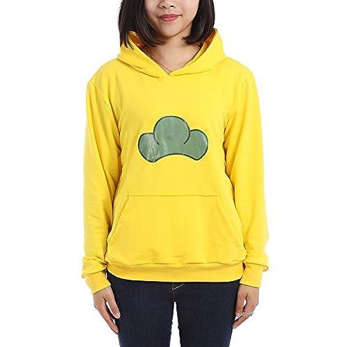 Unisex Hooded Sweatshirt Cosplay Costume Hoodie Candy Color Yellow M
