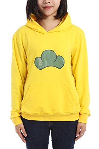 ROLECOS Unisex Hooded Sweatshirt Cosplay Costume Hoodie Candy Color Yellow M