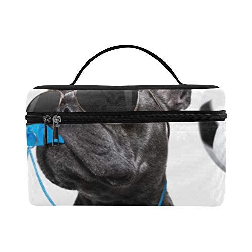 - Womans Makeup Case Puppy Play Soccer Ball Large Size Lady Cosmetic Bag Makeup Organizer Lunch Box Tote Holder Case For Girl Women Makeup Cosmetic Bag