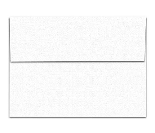 White Linen Textured A7 Envelopes - 50 Envelopes - 5 1/4