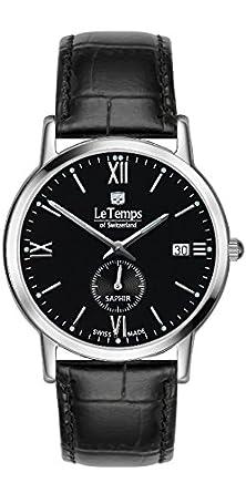 Le Temps Herrenuhr ZAFIRA Elegance - schwarz