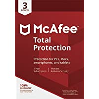 McAfee 2019 Total Protection, 3 Devices, PC/Mac/Android/Smartphones [Download]