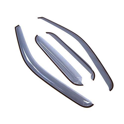 (Tuningpros LGWV2-049 - Compatible With 1999-2006 Chevrolet Silverado 1500 2500 3500 Extended Cab, 4 Pcs Set Outside Mount Window Visor Deflector Rain Guard Light Tinted)