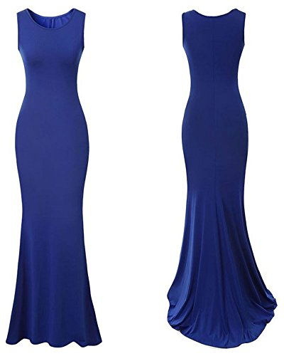 Lalagen Womens Royal Sleeveless Elegant Long Evening Dress Gowns