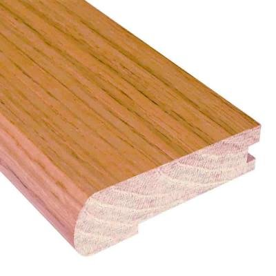 (Unfinished Oak 3/4 in. Thick x 3 in. Wide x 78 in. Length Hardwood Stair Nose Molding)