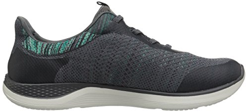 Skechers Womens Orbit Flying Flotta Fashion Sneaker Carboncino / Verde
