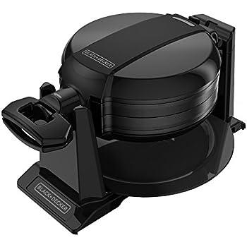 BLACK+DECKER Rotating Waffle Maker, Black, WMD200B