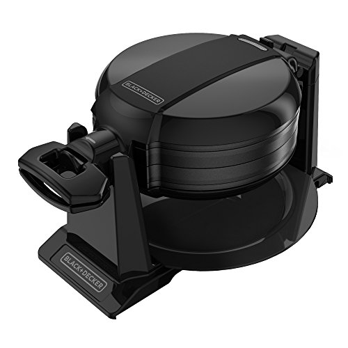 BLACK+DECKER WMD200B Double Flip Waffle Maker, Black