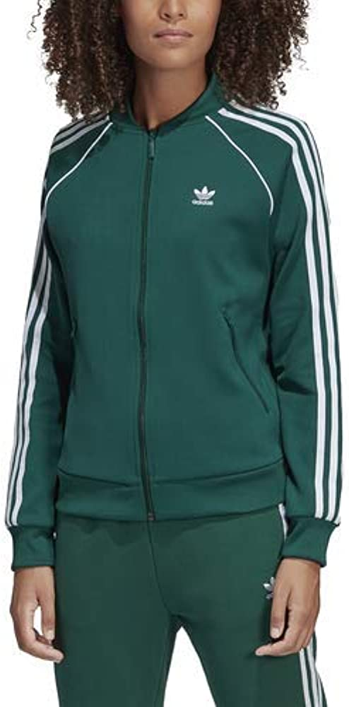 Asistencia el fin Alienación  Amazon.com: adidas Originals Superstar Track Jacket Collegiate Green 2XS:  Clothing