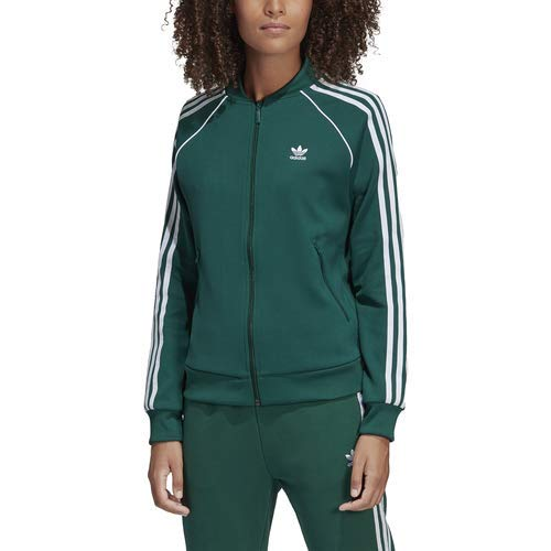 Women's Adidas Superstar Track Top Mineral Green
