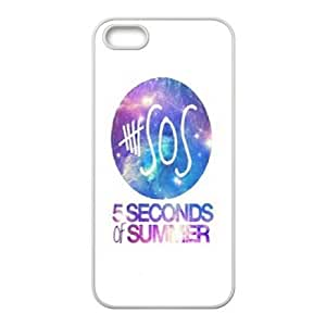 wugdiy Personalized Durable Case Cover for iPhone 5,5S with Brand New Design 5 seconds of summer