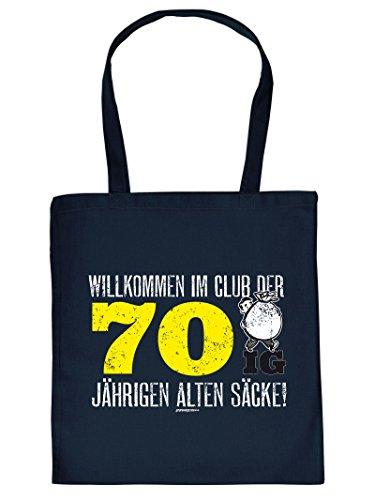 WILLKOMMEN IM CLUB DER 70 IG ... :Tote Bag Henkeltasche. Beutel mit Aufdruck. Tragetasche, Must-have, Stofftasche