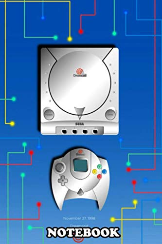 Notebook: Sega Dreamcast Console Illustration , Journal for Writing, College Ruled Size 6 x 9, 110 Pages