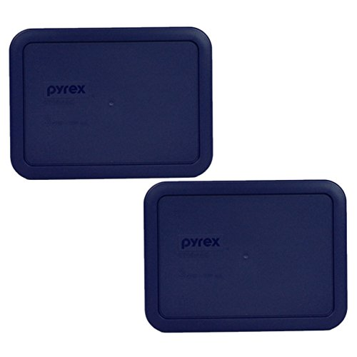 Pyrex 7210-PC Rectangle Dark Blue 3 Cup Storage Lid for Glass Dish (2, Dark Blue)