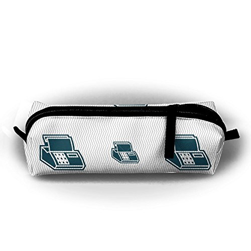 Cash Register Machine Canvas Pencil Bag Holder Pen Case Stationery Makeup Cosmetic Pouch Bag With Zipper