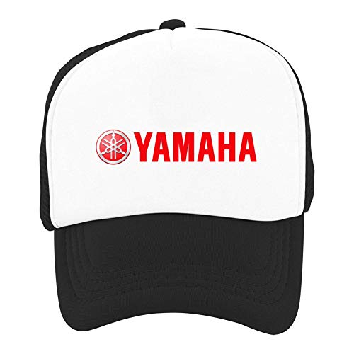 Kids Classic Simple Yamaha Motor Logo Printed Basketball Mesh Hats Sport Trucker Snapback Cap