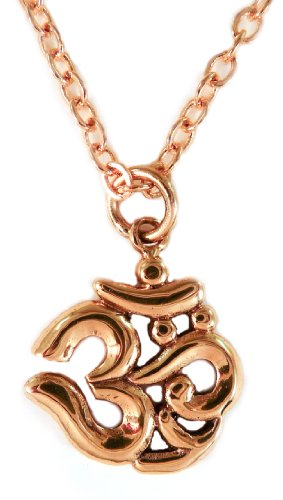 Om Symbol Brass Yoga Hindu Necklace 18