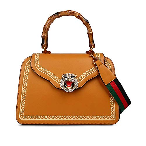 7163652aff54 Jual Designer Tiger Top Handle Bags with Bamboo Handle for Women ...