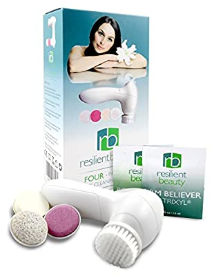Best ELECTRIC FACIAL CLEANSING BRUSH and Massage System by Resilient Beauty. FREE ANTI AGING FACIAL CREAM Bonus ... Advanced Sonic Skin Care Cleansing Kit Includes 4 Waterproof Attachments to Exfoliate & Smooth for Great Looking Skin at Any Age!