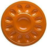 Zak!® Hex Orange Egg Plate
