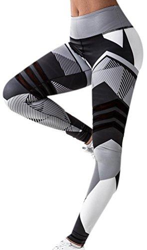 Legging Sport Femme Imprimé Leggings Fitness Leggins Yoga Training Gym Motif Pants Pour Femmes Mode Entraînement Sports Running Streche Pantalon Noir S