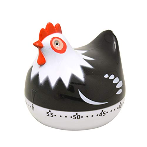 Chenway Cooking Tool Cute Chicken Shape 60 Minute Counting Kitchen Cooking Alarm Clock Timer Mechanical]()