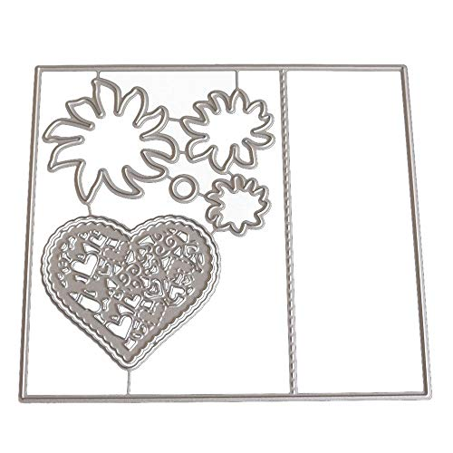 Euone New Flower Heart Metal Cutting Dies Stencils DIY Scrapbooking Album Paper Card]()