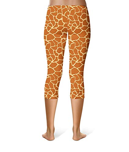 Alla Colour Ragazza Stampa Da Elasticizzati E Leggings Moda Donna Giraffa Pantaloni Chic Con Attillati qEUO77