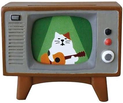 Kawaii Figura de cerámica en Forma de televisor marrón: Amazon.es: Hogar