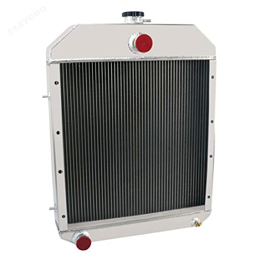 STAYCOO D81055 All Aluminum 3 Row Radiator for Case IH Backhoe Loader 480D 480LL 580 Super D,580D 584D 585D 586D
