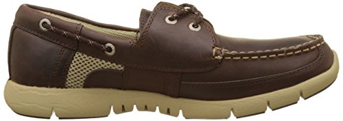 Sebago Kinsley Two Eye, Náuticos Para Hombre Marrón (Dk Brown Leather)