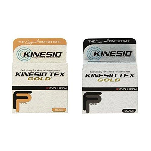 Kinesio Tex Gold Tape 2 x 16.4' Beige & Black Combo Pack by Kinesio by Kinesio
