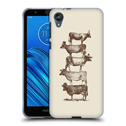 Official Florent Bodart Cow Cow Nuts Big Animals 2 Soft Gel Case Compatible for Motorola Moto E6 from Head Case Designs