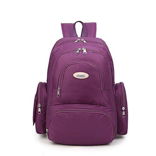 Mommy Bolsa De Hombro Multifuncional De Alta Capacidad Madre Pack Mujeres Embarazadas Mochila Ambiental Madre Para Ser Producido Paquete ( Color : Azul ) Purple