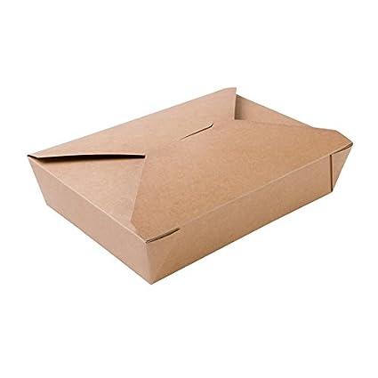 BIOZOYG 280x Caja para Llevar | Caja de cartón | cartón Kraft marrón | 1100ml,
