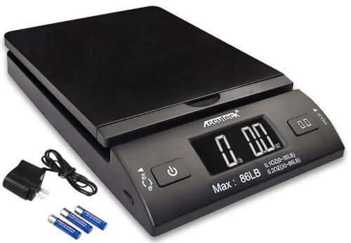 Accuteck 86lb All-in-one Black Digital Shipping Postal Scale W/adapter …