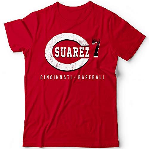 Suarez No. 7 Reds Baseball Pitcher Players Field Home Run Champions Jersey Customized Handmade T-Shirt Hoodie/Long Sleeve/Tank Top/Sweatshirt