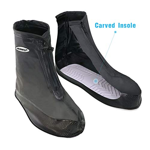 (ARUNNERS Rain Shoes Boots Covers Overshoes Galoshes Travel for Men(Black, 4XL))