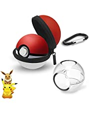(New Upgrade)Portable Pokeball Plus Case -Protective Carrying Case for Switch Poke Ball Plus Controller -Pokemon Ball Case Pokeball Carrying Case Bag for Switch Accessories Pokeball