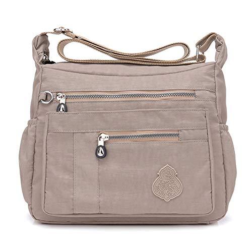 MINTEGRA Crossbody Bag for Women Nylon Waterproof Shoulder Purse Messenger Bag Lightweight Pocketbooks