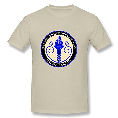 [Funny Adult Saint Mary Seal O-Neck Short Sleeve T Shirts Natural XS Costume] (Adult Mulan Costumes)