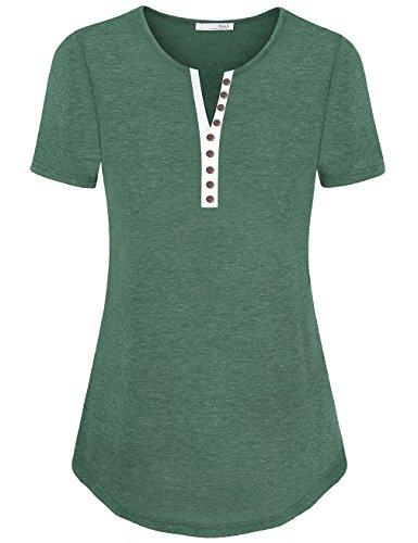 Messic Womens Basic Sleeve Henley product image