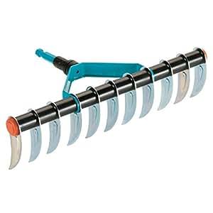 Aireador de césped combisystem de GARDENA: escarificador manual con ancho de trabajo de 35 cm, accesorio ideal para quitar musgo y paja del césped, combina con todos los mangos combisystem (3391-20)