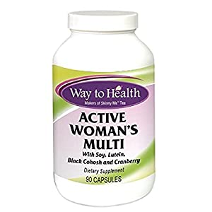 Active Women's Multi – With Soy, Lutein, Black Cohosh, Dong Quai & Cranberry – 90 Tablets