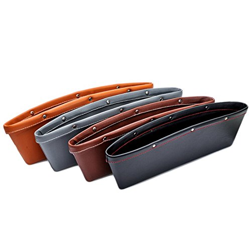 2pcs Creative Car Storage Box Leather Auto Car Seat Gap Pocket Catcher Organizer Leak-Proof Storage Box Auto Bag Container - Gap Queen Bed Set