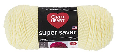 Red Heart Super Saver Yarn, Pale - Yarn Knitting Heart Yellow