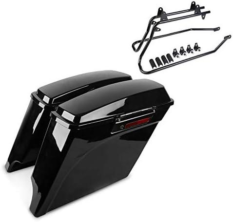 Set Mit Seitenkoffer Und Kofferträger Kompatibel Für Harley Davidson Softail Standard 99 06 Stretched Lb Auto